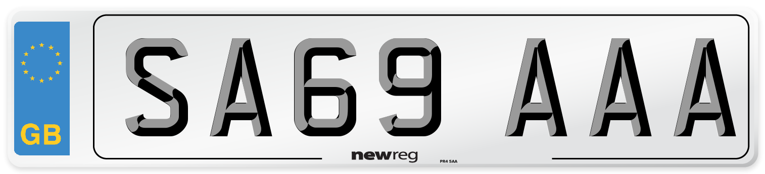 SA69 AAA Number Plate from New Reg