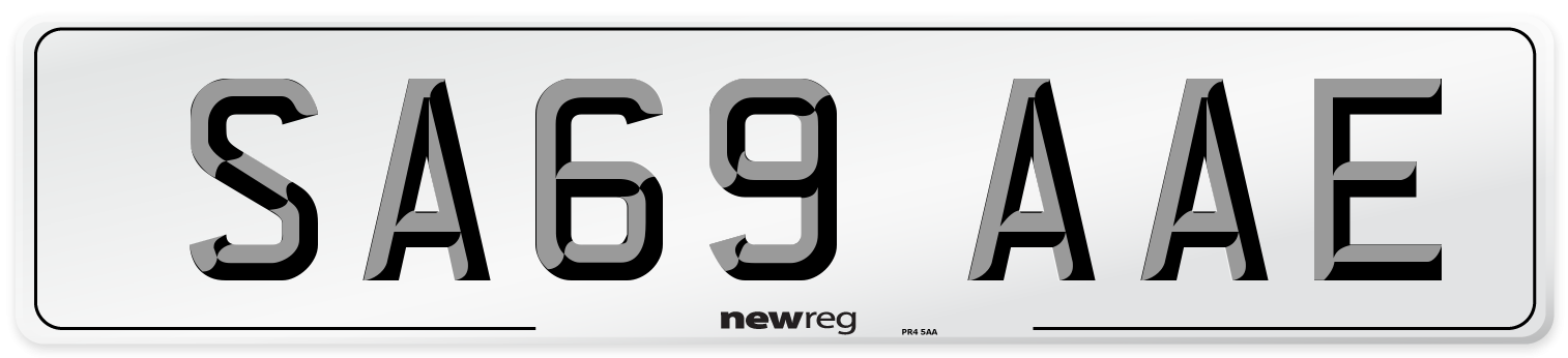 SA69 AAE Number Plate from New Reg