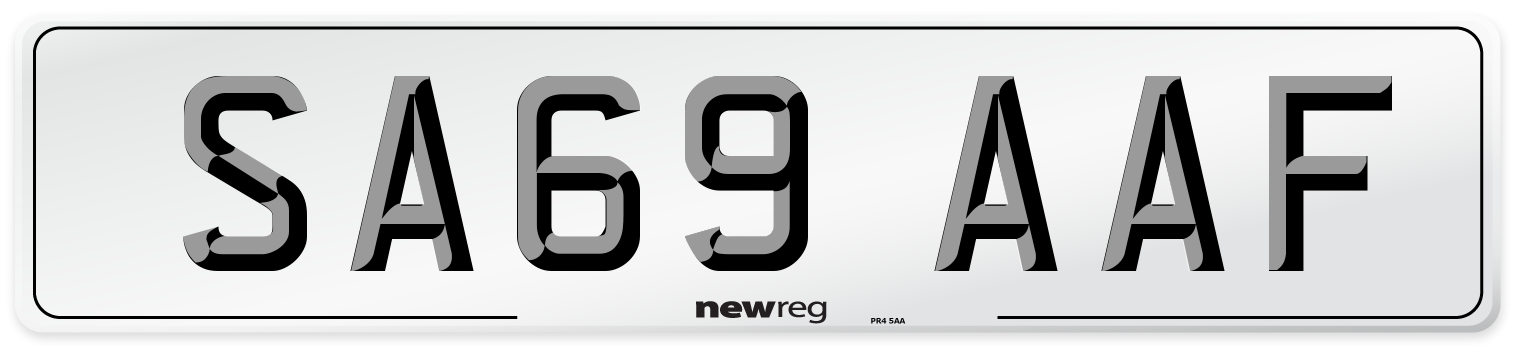 SA69 AAF Number Plate from New Reg