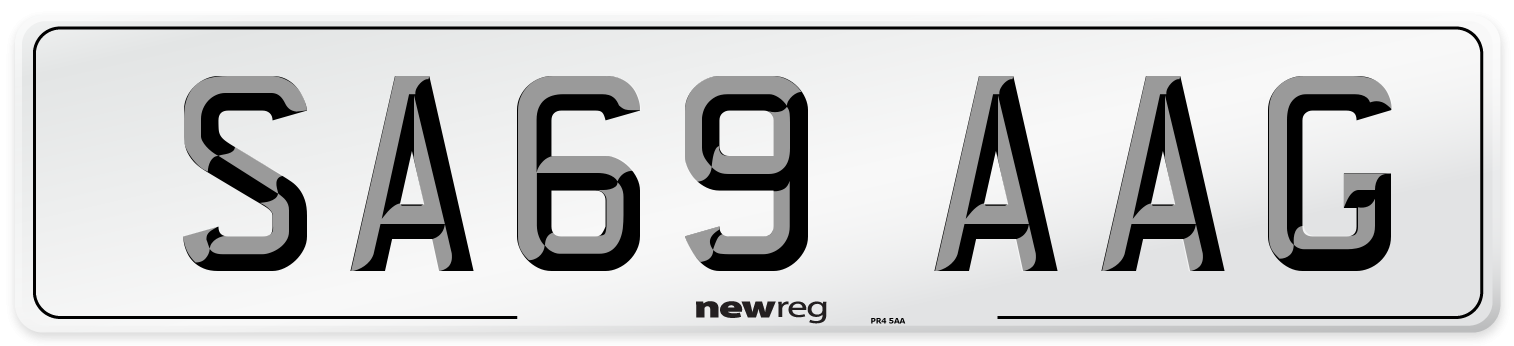 SA69 AAG Number Plate from New Reg