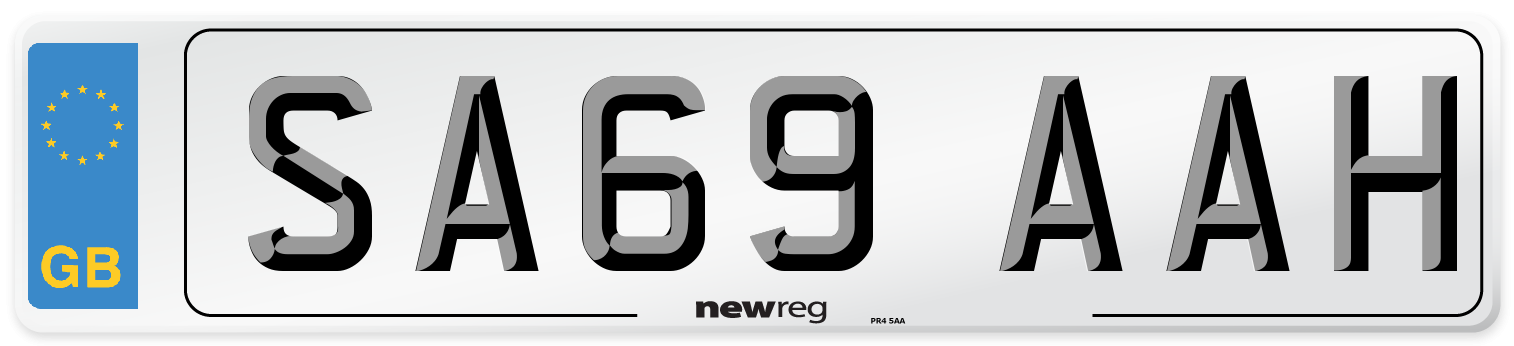 SA69 AAH Number Plate from New Reg