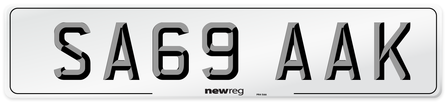 SA69 AAK Number Plate from New Reg