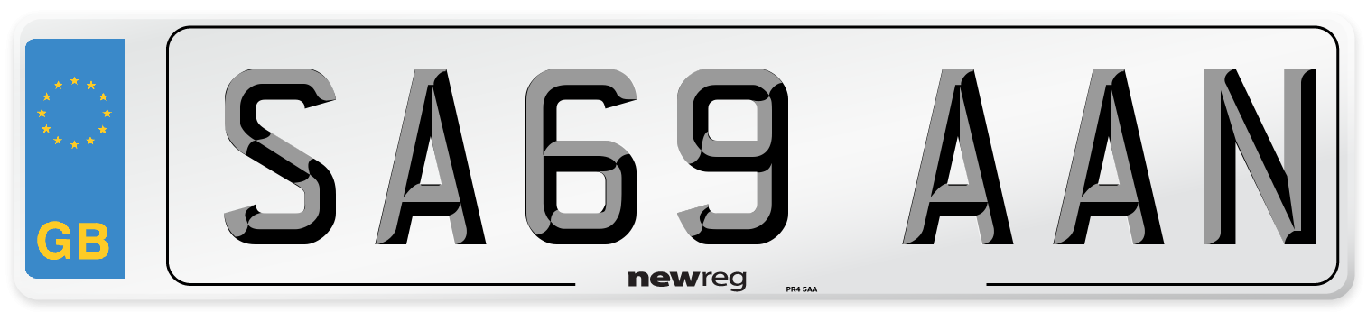 SA69 AAN Number Plate from New Reg