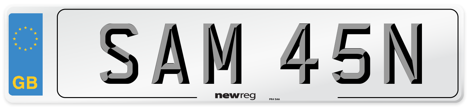 SAM 45N Number Plate from New Reg