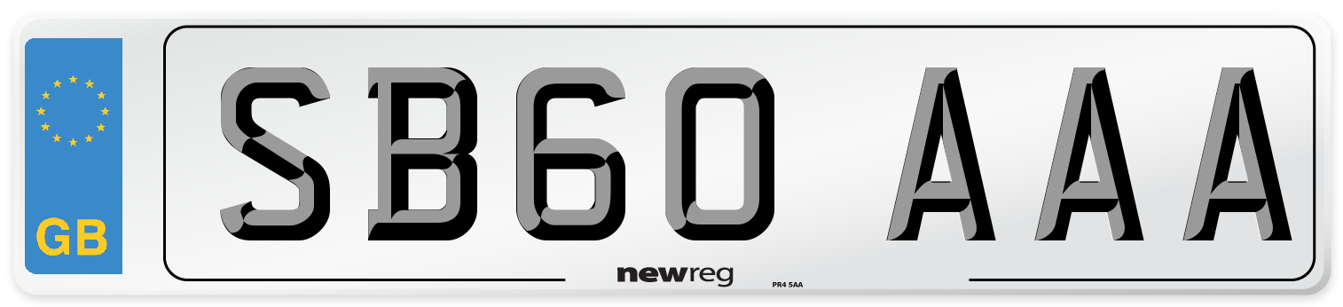 SB60 AAA Number Plate from New Reg