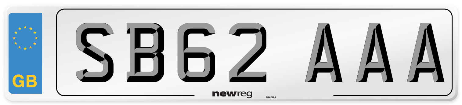 SB62 AAA Number Plate from New Reg