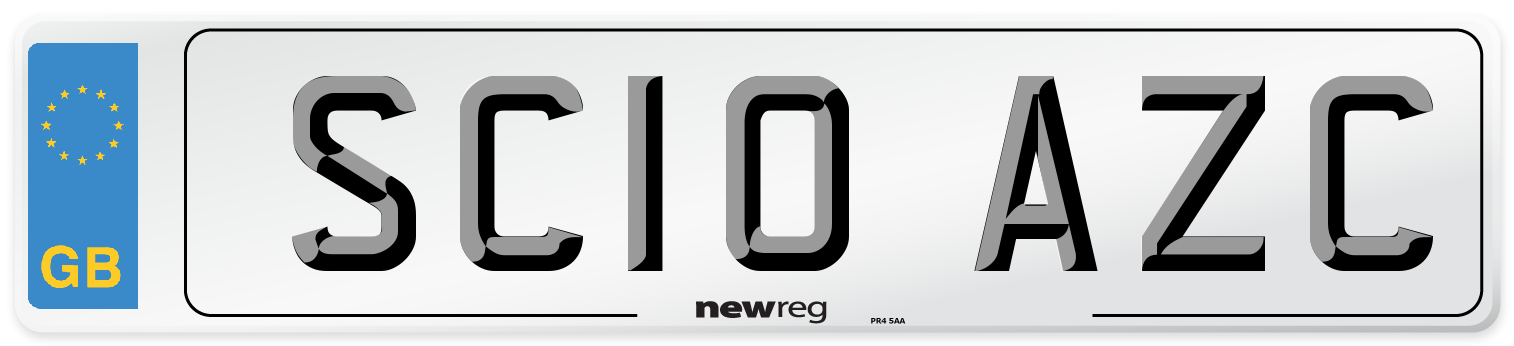 SC10 AZC Number Plate from New Reg