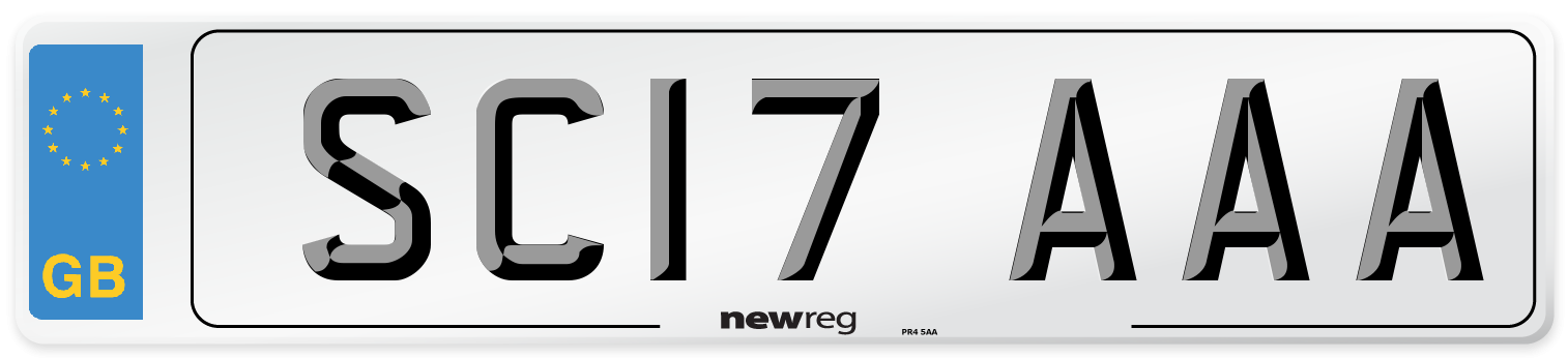 SC17 AAA Number Plate from New Reg