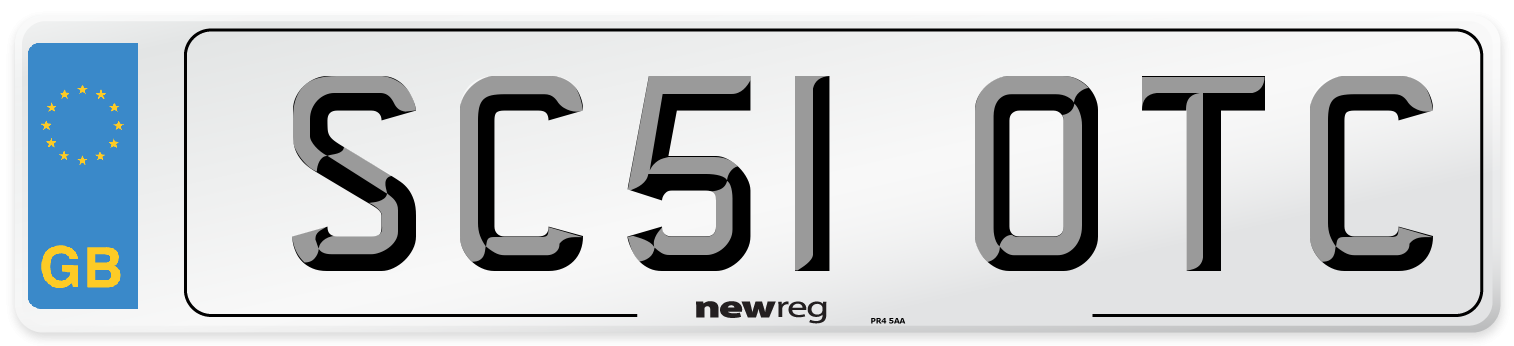 SC51 OTC Number Plate from New Reg