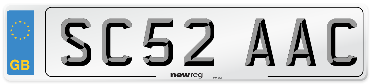 SC52 AAC Number Plate from New Reg