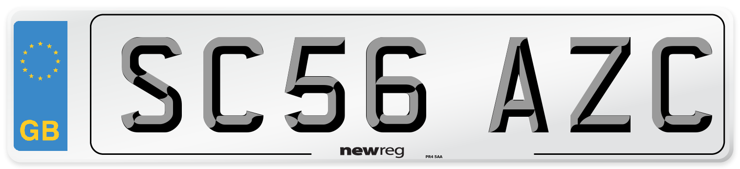 SC56 AZC Number Plate from New Reg