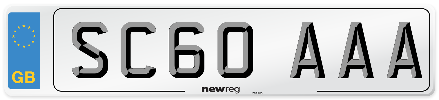 SC60 AAA Number Plate from New Reg