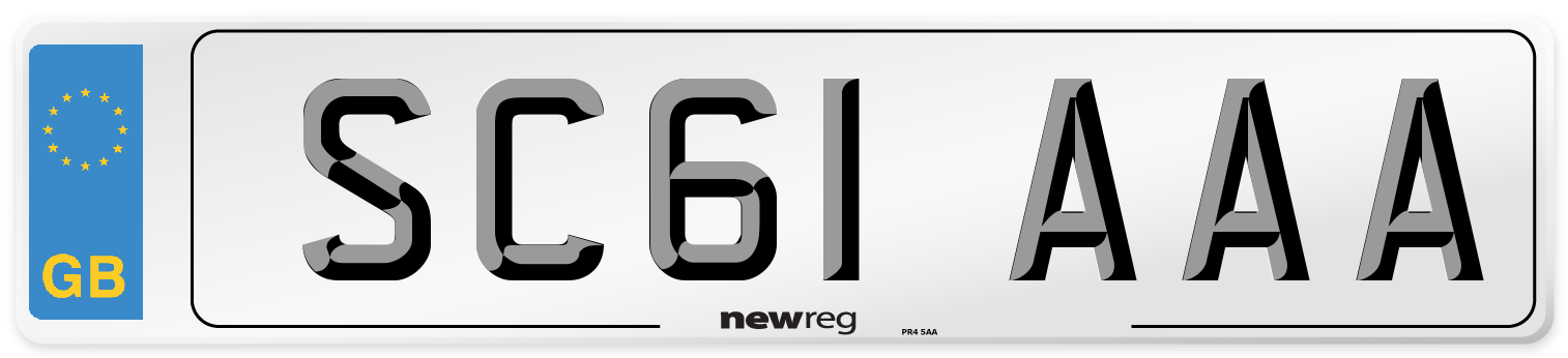 SC61 AAA Number Plate from New Reg