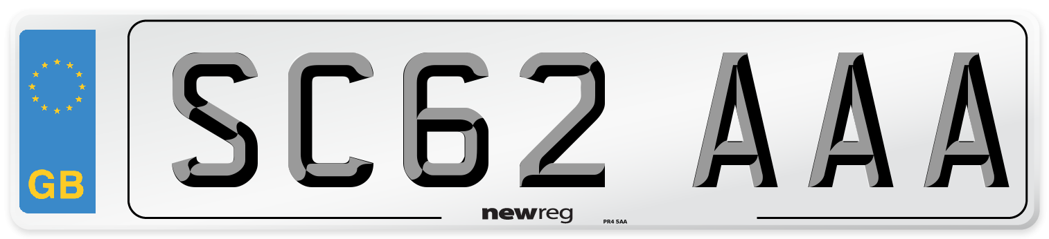 SC62 AAA Number Plate from New Reg