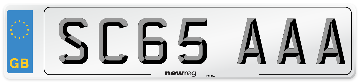 SC65 AAA Number Plate from New Reg