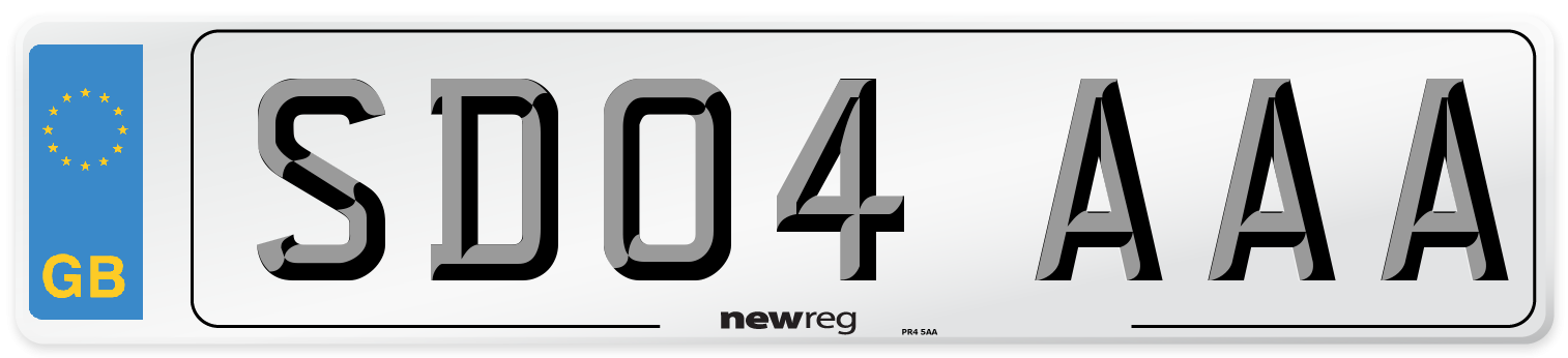 SD04 AAA Number Plate from New Reg