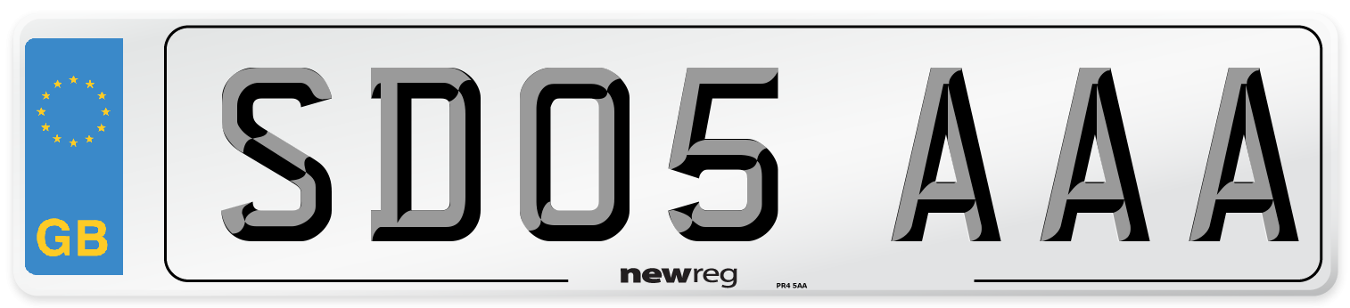 SD05 AAA Number Plate from New Reg
