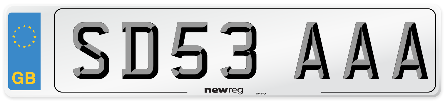 SD53 AAA Number Plate from New Reg