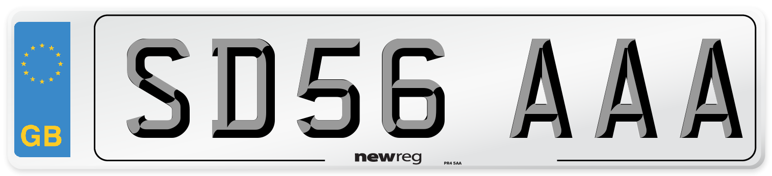 SD56 AAA Number Plate from New Reg