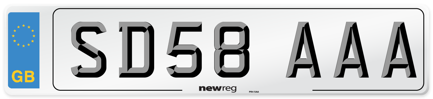 SD58 AAA Number Plate from New Reg