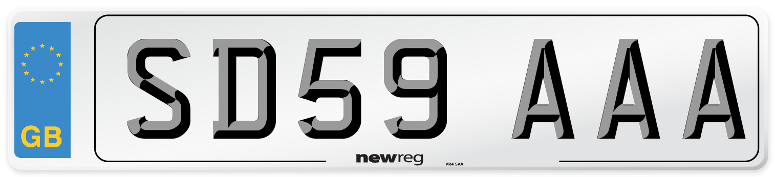 SD59 AAA Number Plate from New Reg