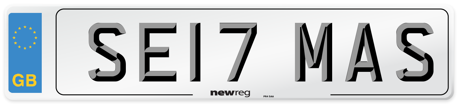 SE17 MAS Number Plate from New Reg