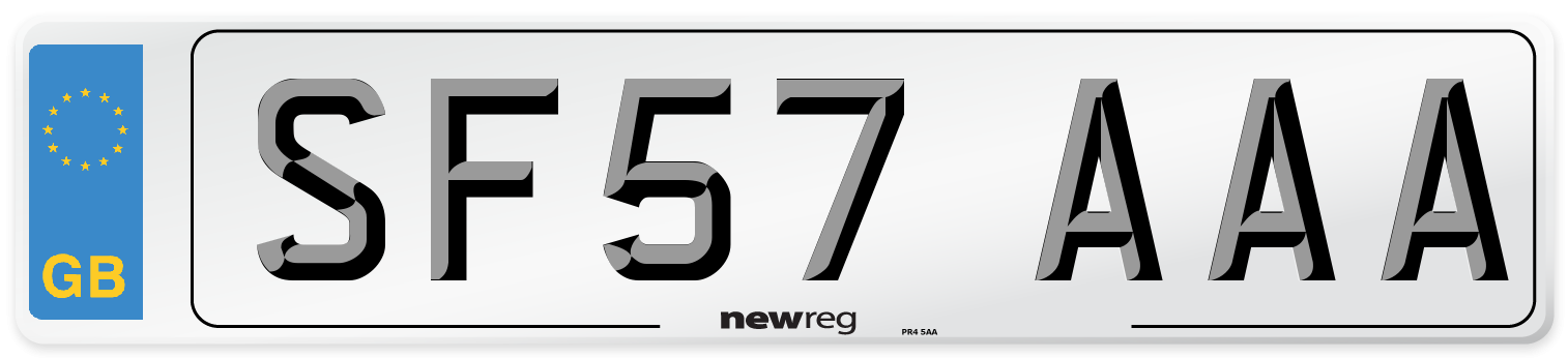 SF57 AAA Number Plate from New Reg