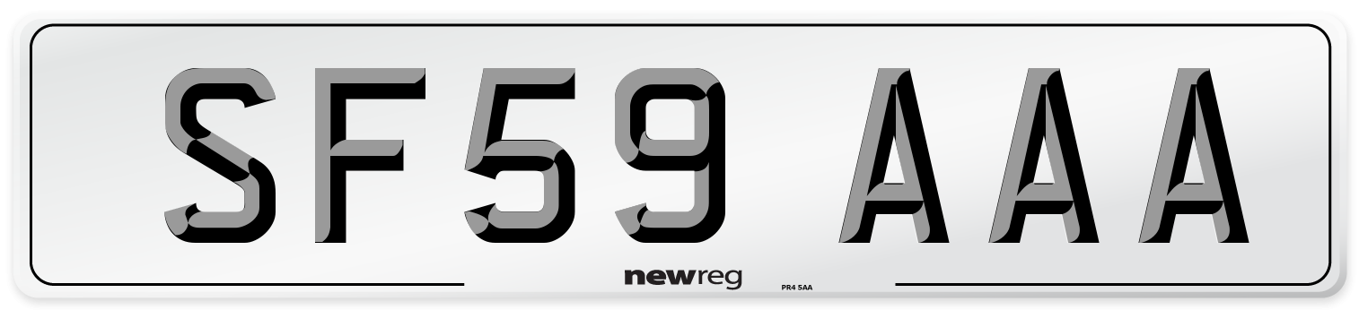 SF59 AAA Number Plate from New Reg