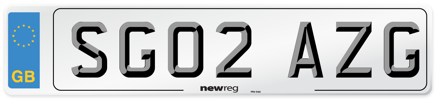 SG02 AZG Number Plate from New Reg