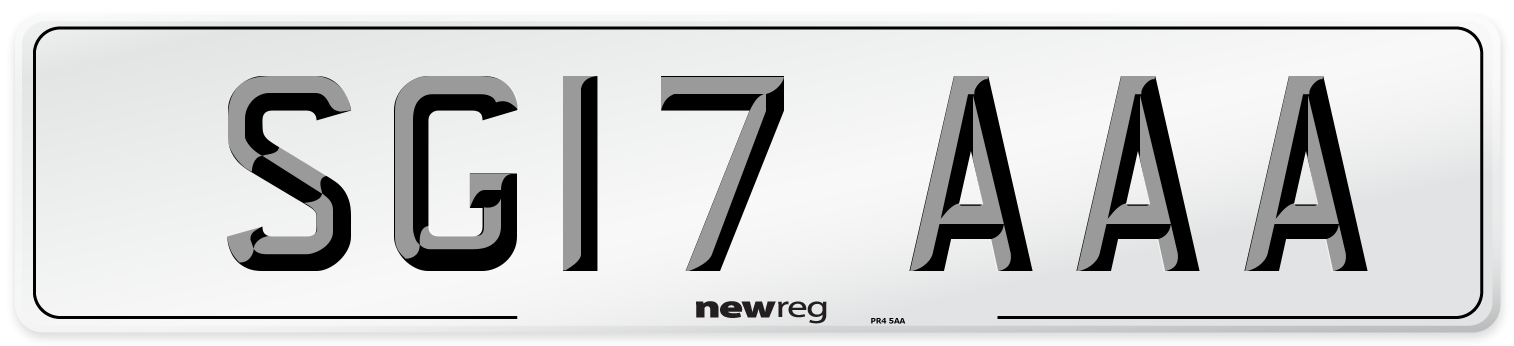 SG17 AAA Number Plate from New Reg