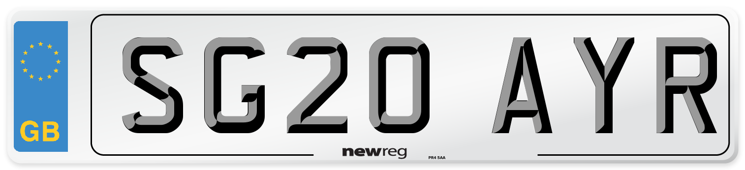 SG20 AYR Number Plate from New Reg
