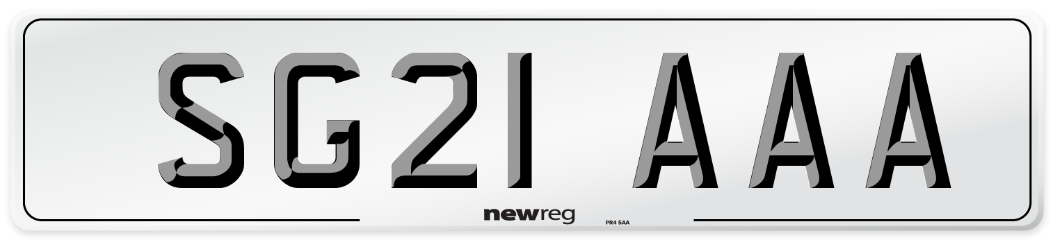 SG21 AAA Number Plate from New Reg