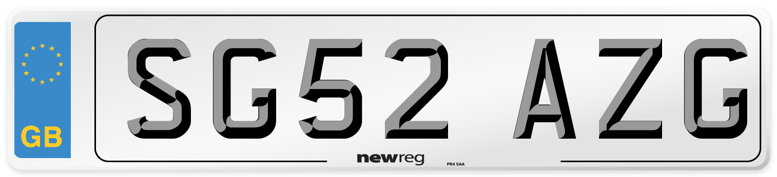 SG52 AZG Number Plate from New Reg