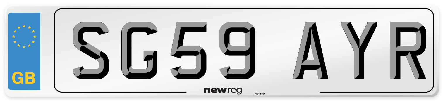SG59 AYR Number Plate from New Reg