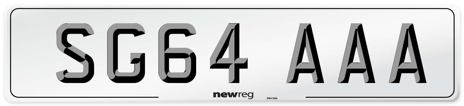 SG64 AAA Number Plate from New Reg