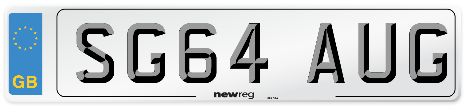 SG64 AUG Number Plate from New Reg