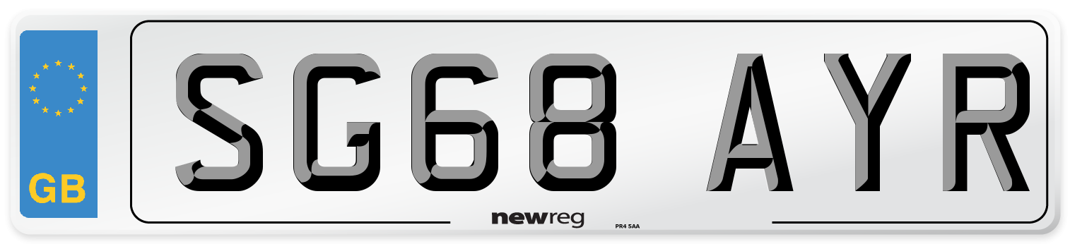 SG68 AYR Number Plate from New Reg
