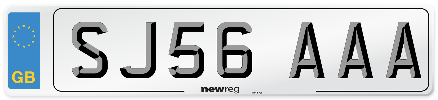 SJ56 AAA Number Plate from New Reg