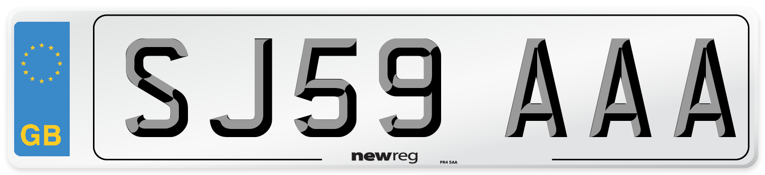 SJ59 AAA Number Plate from New Reg