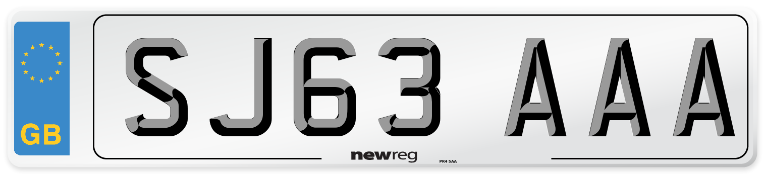 SJ63 AAA Number Plate from New Reg