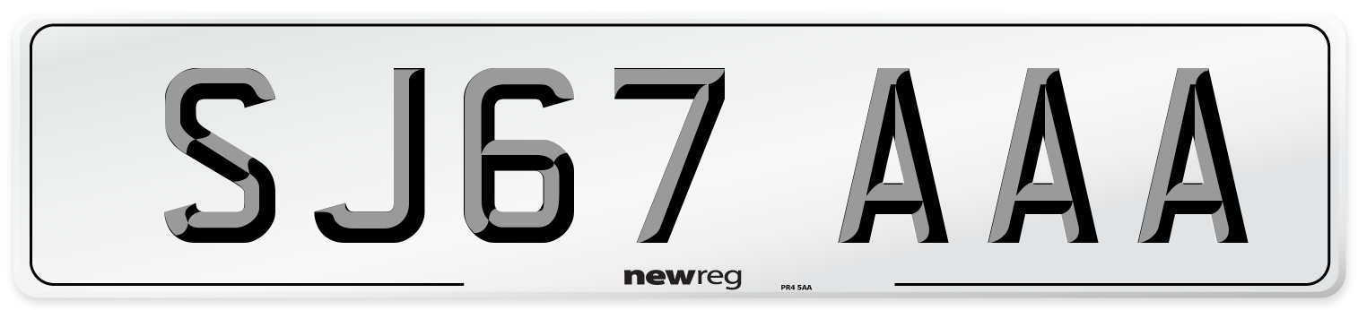 SJ67 AAA Number Plate from New Reg