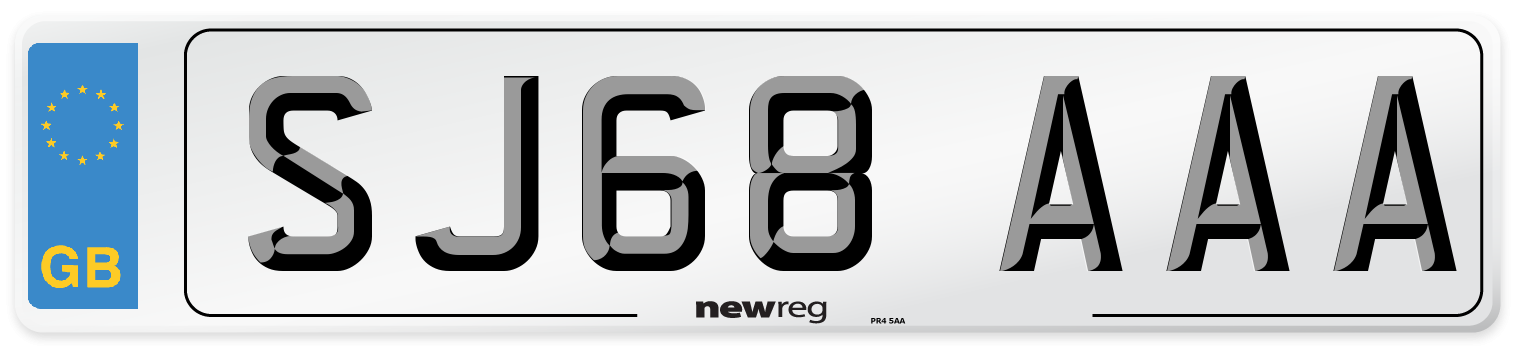 SJ68 AAA Number Plate from New Reg