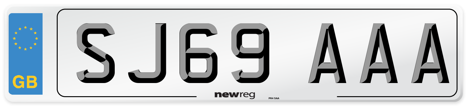 SJ69 AAA Number Plate from New Reg