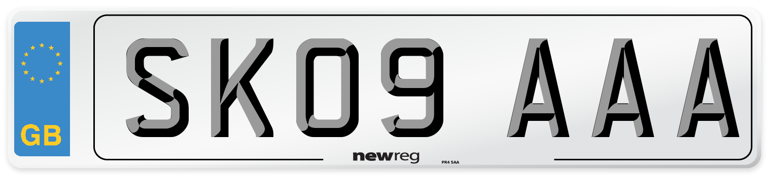 SK09 AAA Number Plate from New Reg