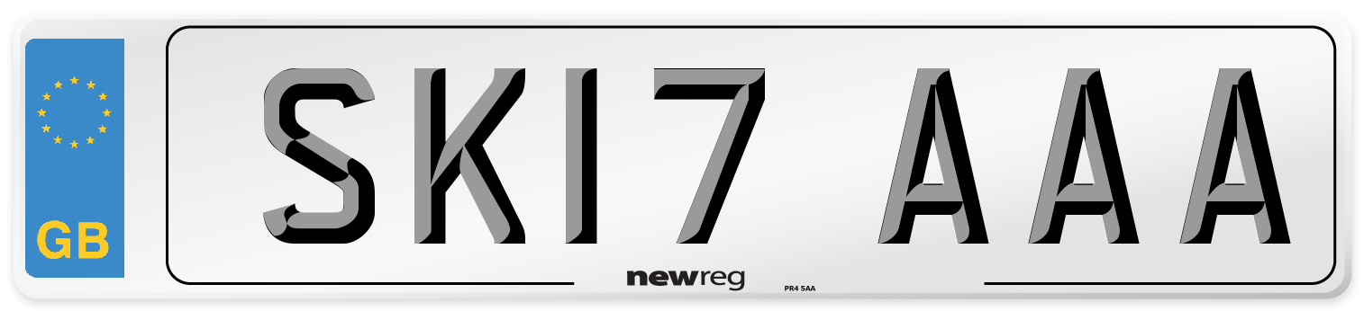 SK17 AAA Number Plate from New Reg