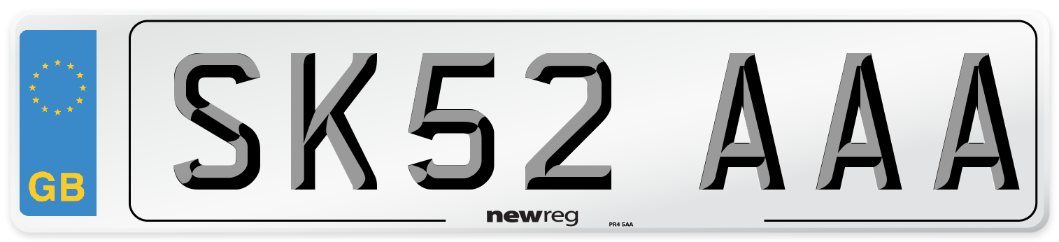 SK52 AAA Number Plate from New Reg
