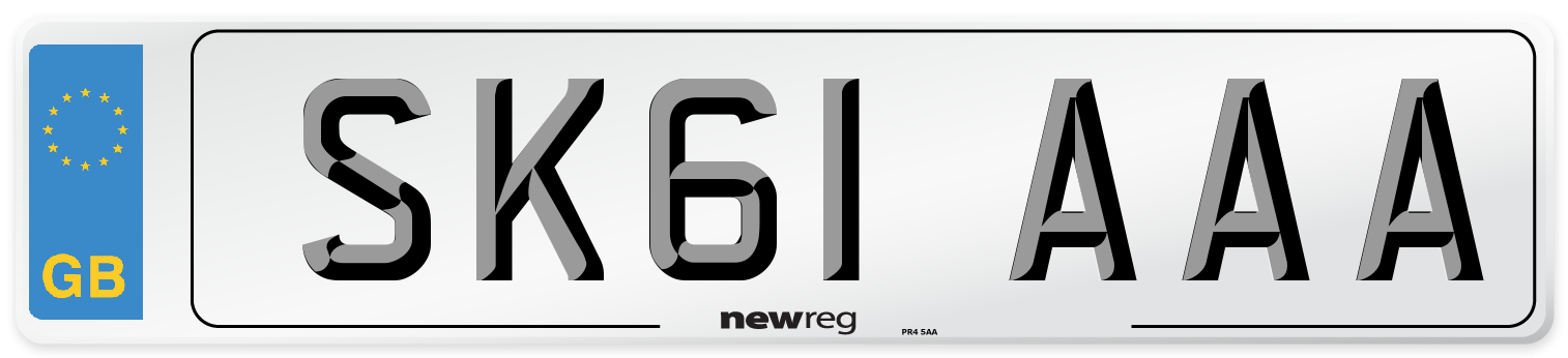 SK61 AAA Number Plate from New Reg