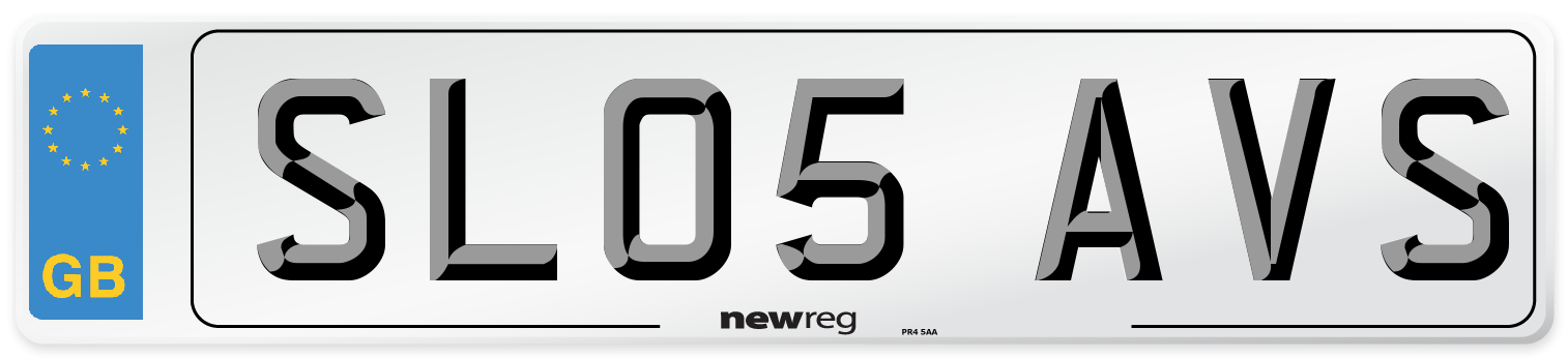 SL05 AVS Number Plate from New Reg