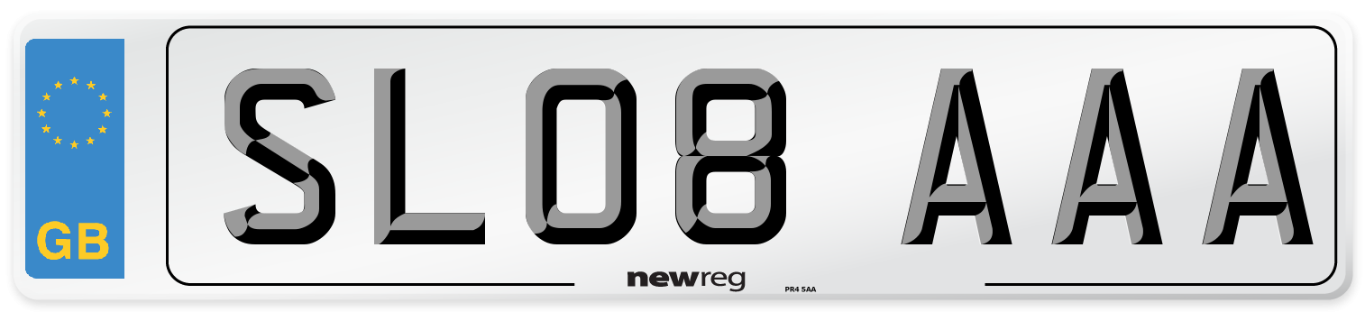 SL08 AAA Number Plate from New Reg