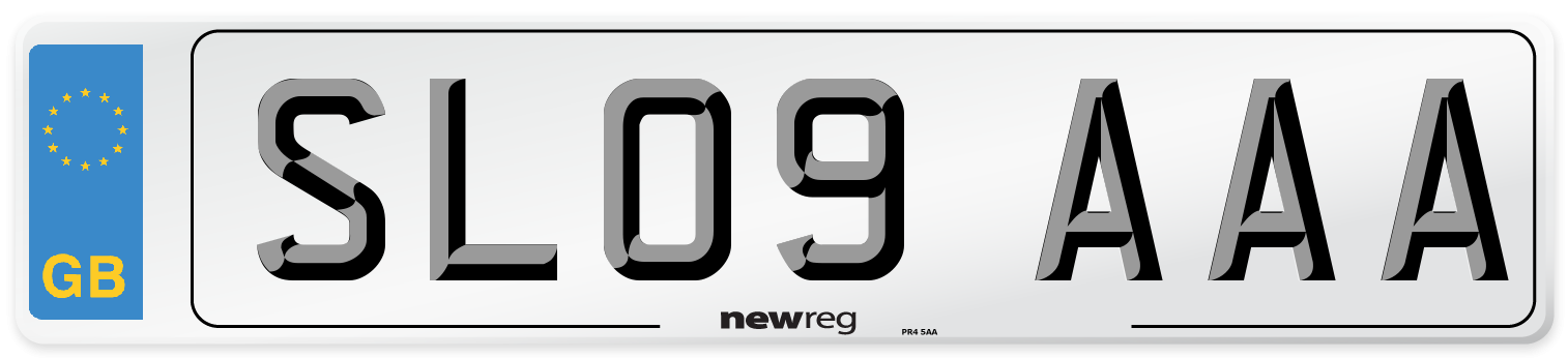 SL09 AAA Number Plate from New Reg